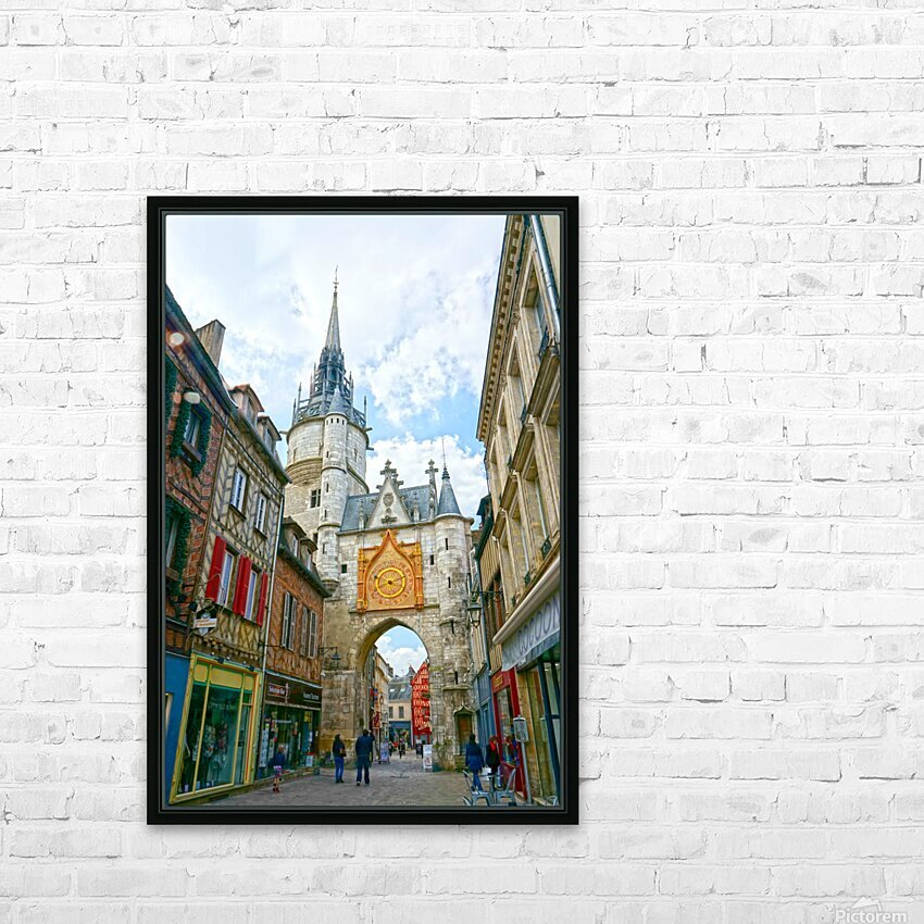 Auxerre France Snapshot in Time HD Sublimation Metal print with Decorating Float Frame (BOX)
