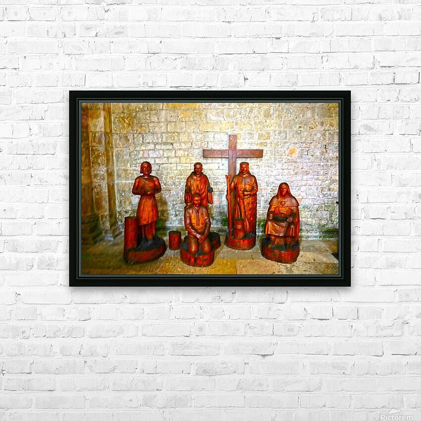 Basilica of Sainte Marie Madeleine 5 of 5 @  Vezelay France HD Sublimation Metal print with Decorating Float Frame (BOX)
