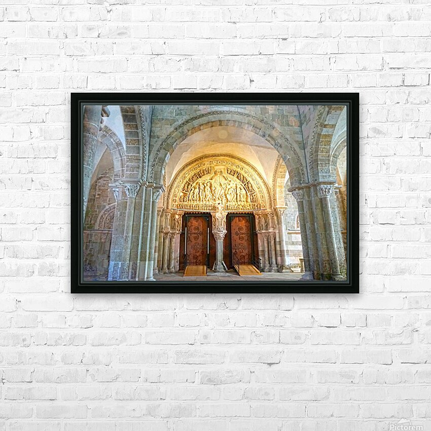Basilica of Sainte Marie Madeleine 3 of 5 @  Vezelay France HD Sublimation Metal print with Decorating Float Frame (BOX)
