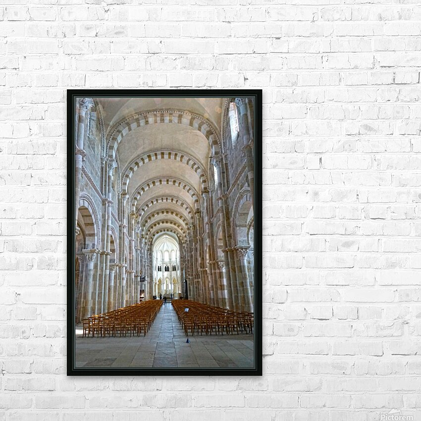 Basilica of Sainte Marie Madeleine 4 of 5 @ Vezelay France HD Sublimation Metal print with Decorating Float Frame (BOX)