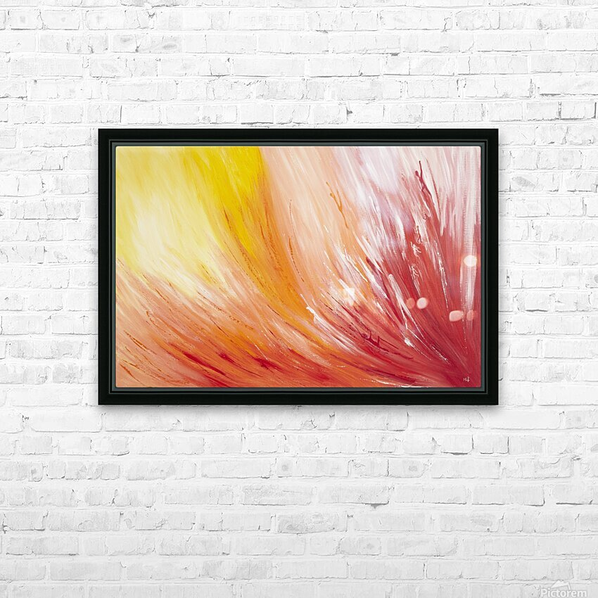 Closest view at  a  Flower. HD Sublimation Metal print with Decorating Float Frame (BOX)