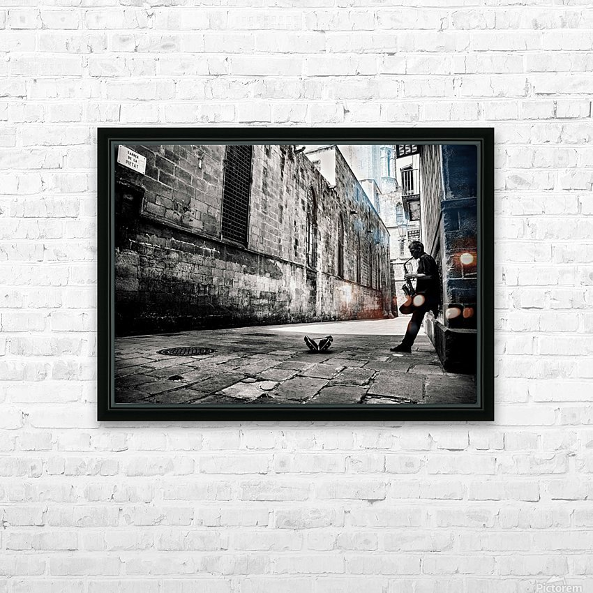 Silent Street HD Sublimation Metal print with Decorating Float Frame (BOX)