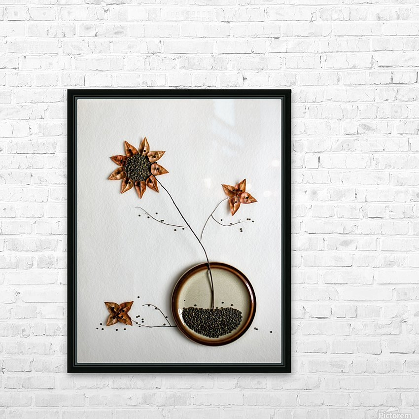 Herbarium... HD Sublimation Metal print with Decorating Float Frame (BOX)