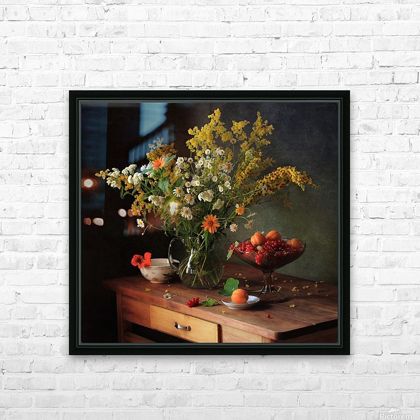 flower by   HD Sublimation Metal print with Decorating Float Frame (BOX)