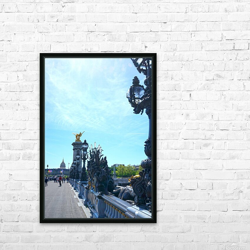 Immortal Paris 4 of 7 HD Sublimation Metal print with Decorating Float Frame (BOX)