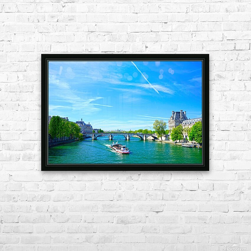 Paris Snapshot in Time 6 of 8 HD Sublimation Metal print with Decorating Float Frame (BOX)