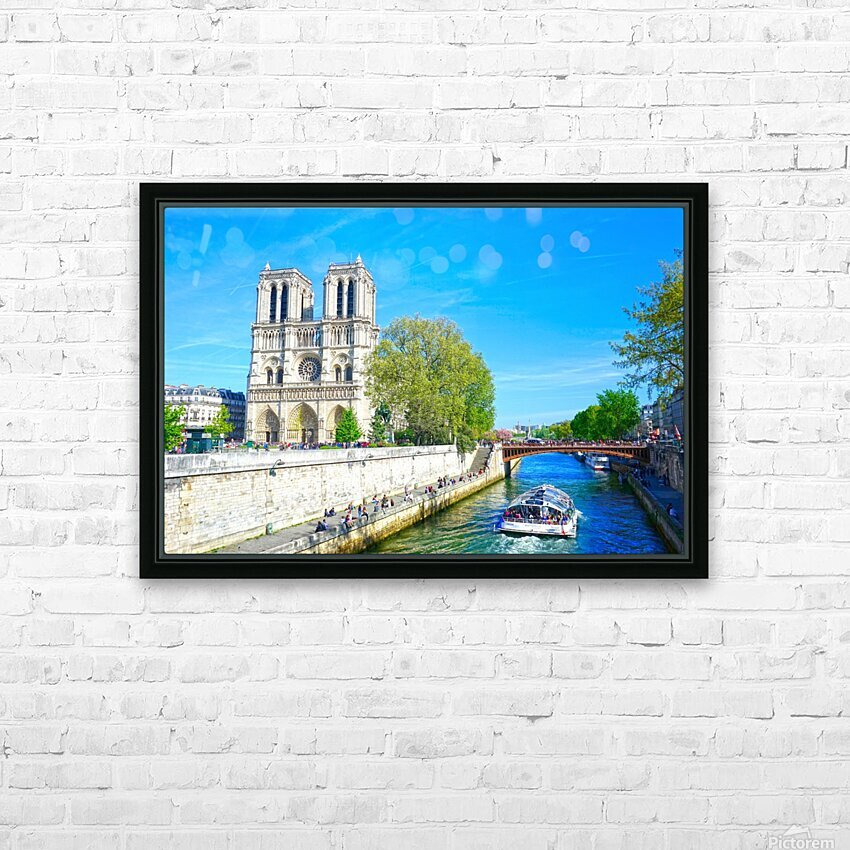 Paris Snapshot in Time 8 of 8 HD Sublimation Metal print with Decorating Float Frame (BOX)