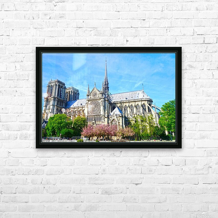 Notre Dame @ Paris HD Sublimation Metal print with Decorating Float Frame (BOX)