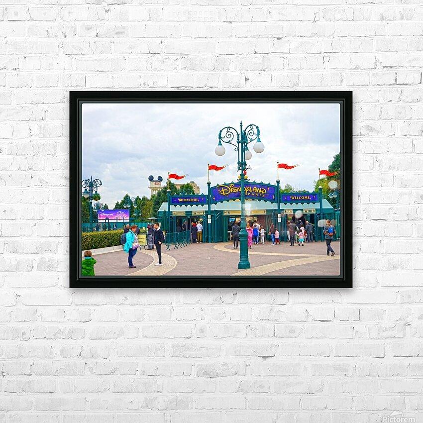 Paris Disneyland 1 of 4 HD Sublimation Metal print with Decorating Float Frame (BOX)