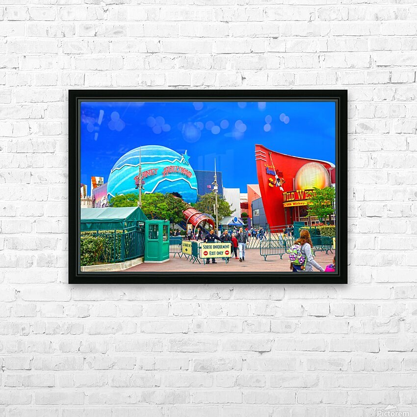 Paris Disneyland 2 of 4 HD Sublimation Metal print with Decorating Float Frame (BOX)