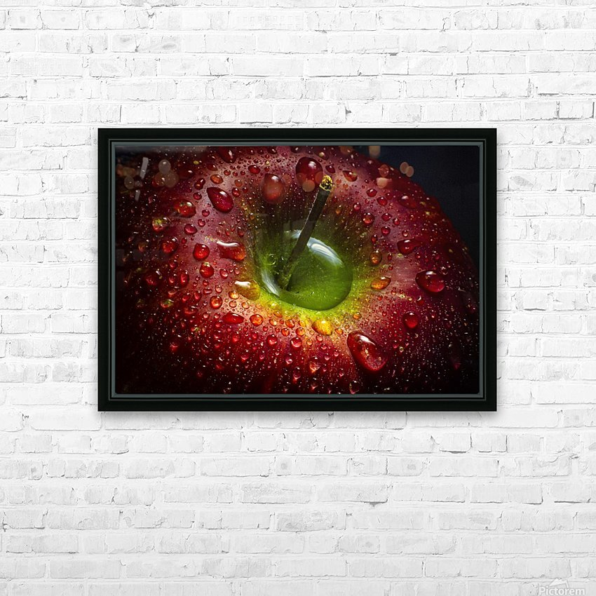 Red Apple HD Sublimation Metal print with Decorating Float Frame (BOX)