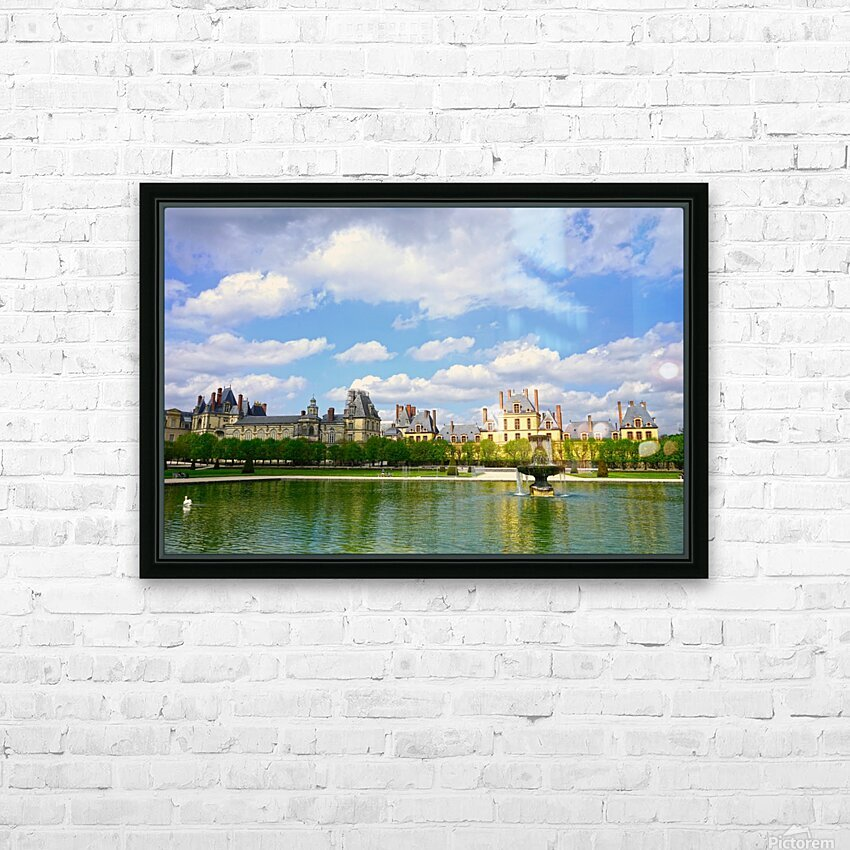 Chateaus of France 4 HD Sublimation Metal print with Decorating Float Frame (BOX)