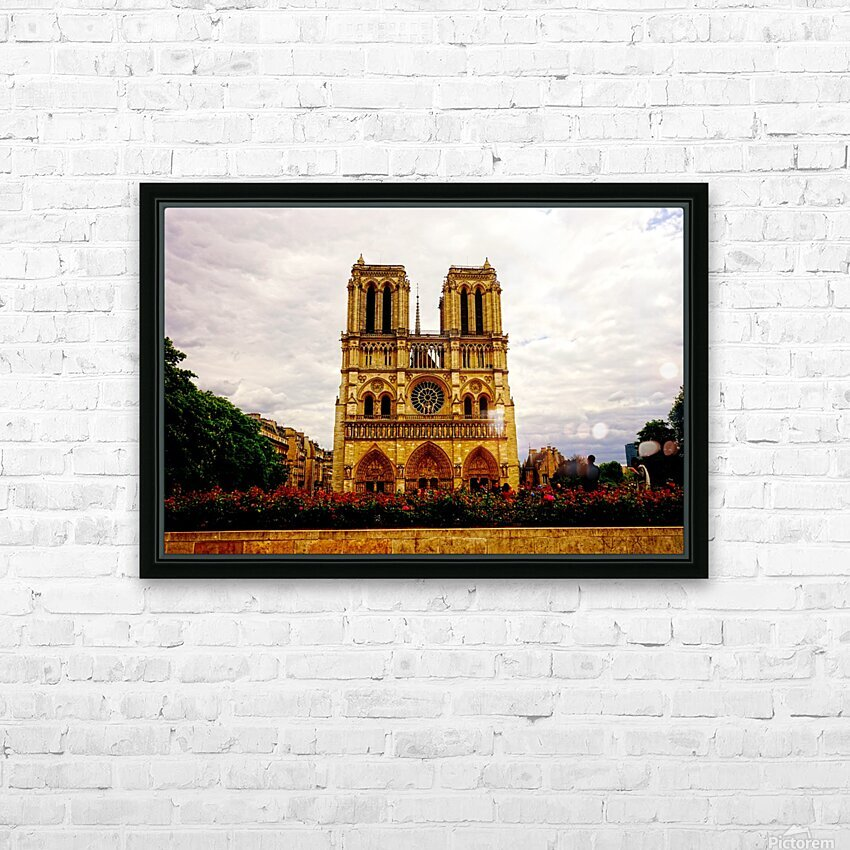 Jeanne d Arc and Saint Croix Cathedral at Orleans   France 1 of 7 HD Sublimation Metal print with Decorating Float Frame (BOX)