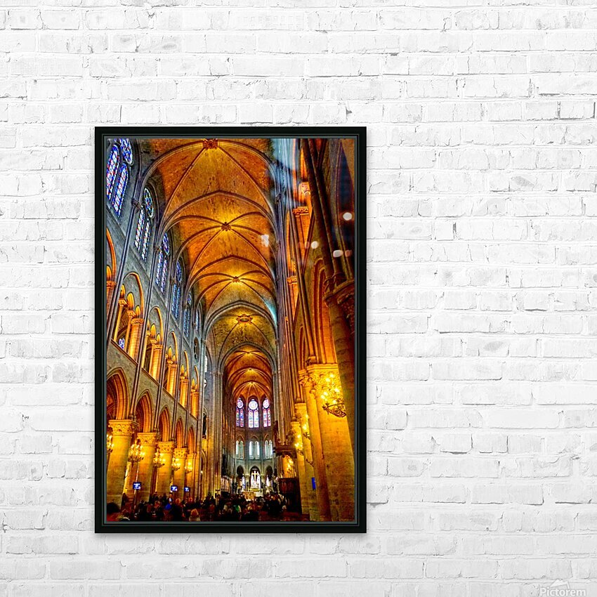 Jeanne d Arc and Saint Croix Cathedral at Orleans   France 2 of 7 HD Sublimation Metal print with Decorating Float Frame (BOX)