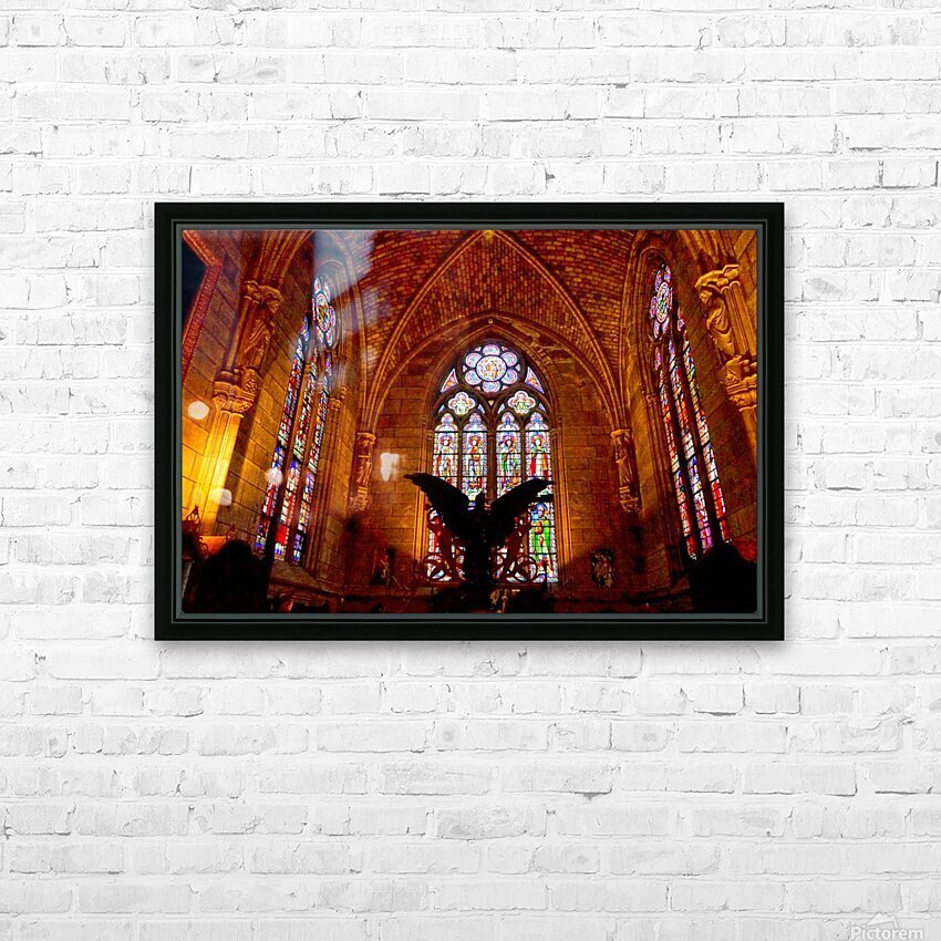 Jeanne d Arc and Saint Croix Cathedral at Orleans   France 5 of 7 HD Sublimation Metal print with Decorating Float Frame (BOX)