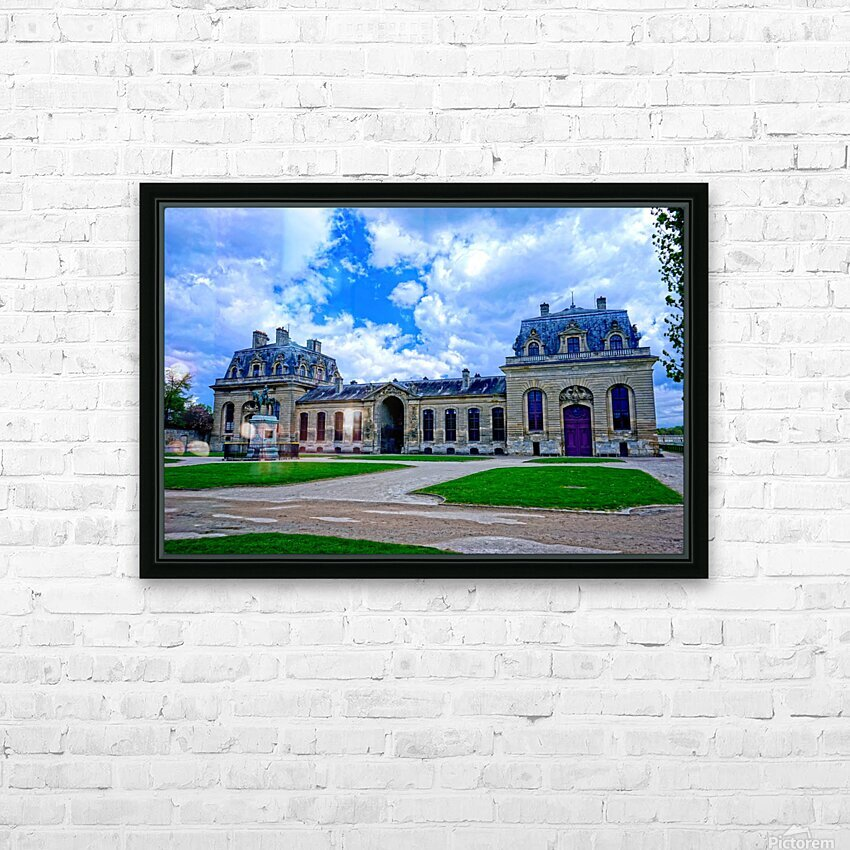 Chateaus of France 7 HD Sublimation Metal print with Decorating Float Frame (BOX)