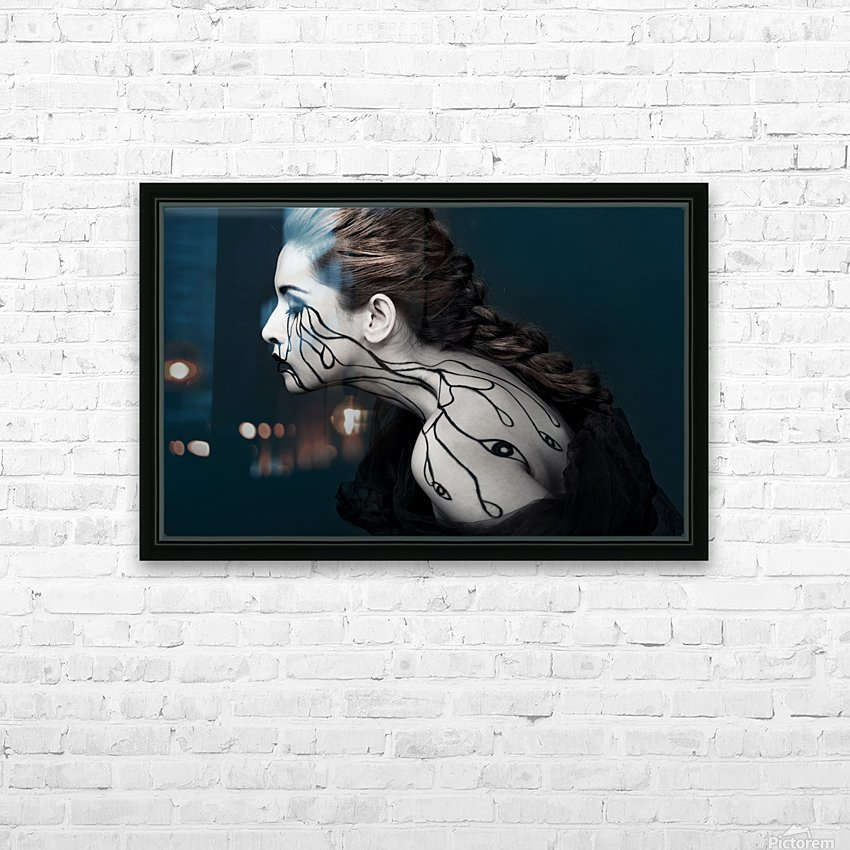 Eye to Eyes by Yudhistira Yogasara  HD Sublimation Metal print with Decorating Float Frame (BOX)