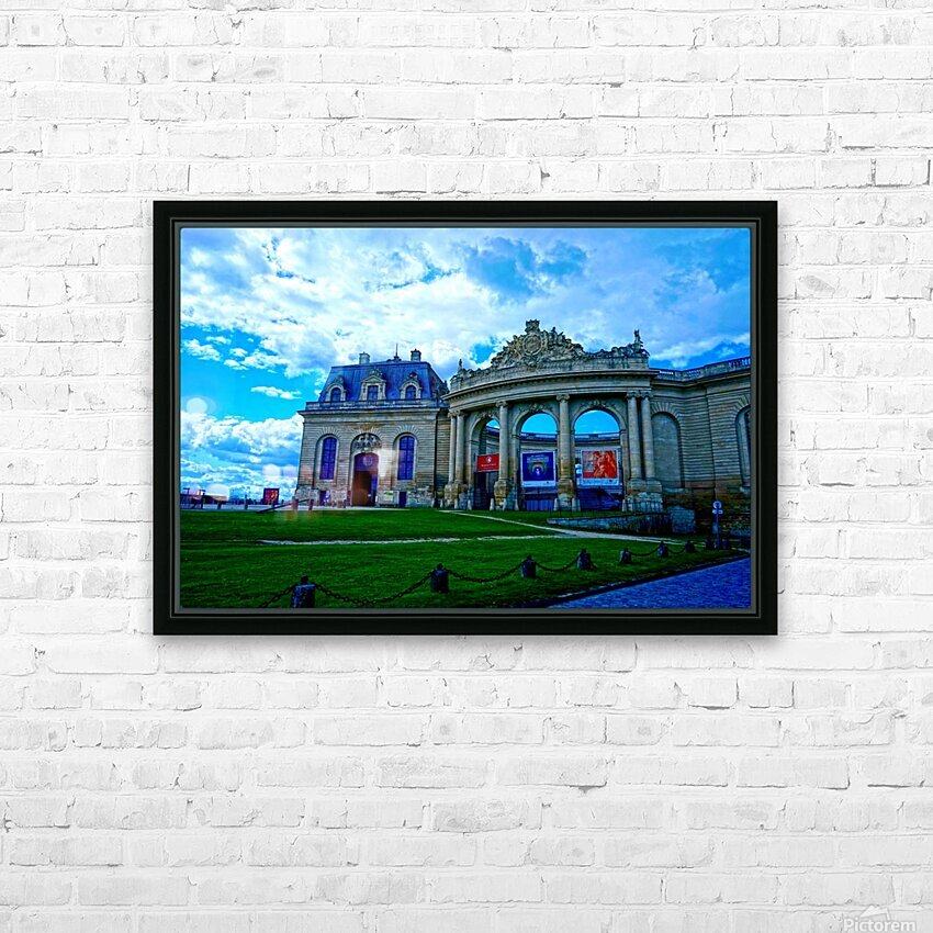 Chateaus of France 8 HD Sublimation Metal print with Decorating Float Frame (BOX)