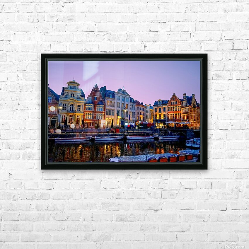 I Dreamed of Belgium HD Sublimation Metal print with Decorating Float Frame (BOX)