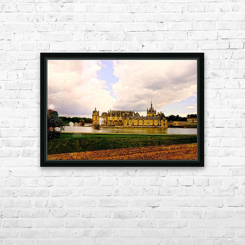 Chateaus of France HD Sublimation Metal print with Decorating Float Frame (BOX)