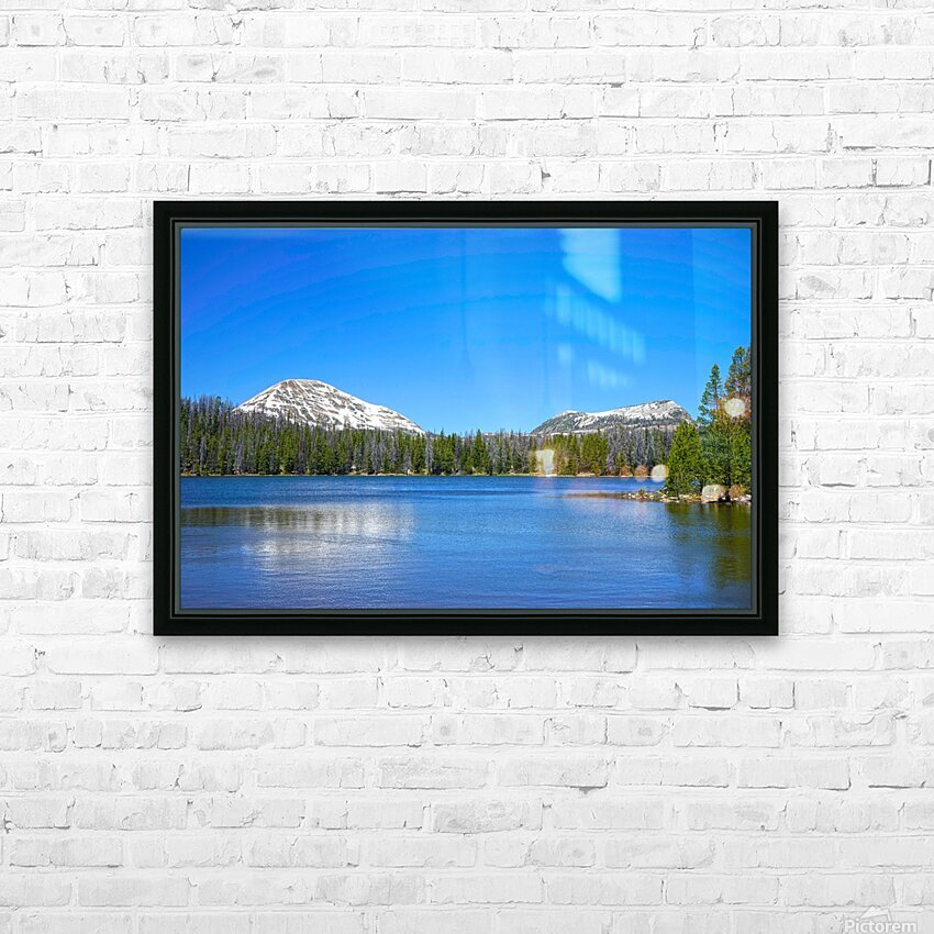 Mirror Lake HD Sublimation Metal print with Decorating Float Frame (BOX)