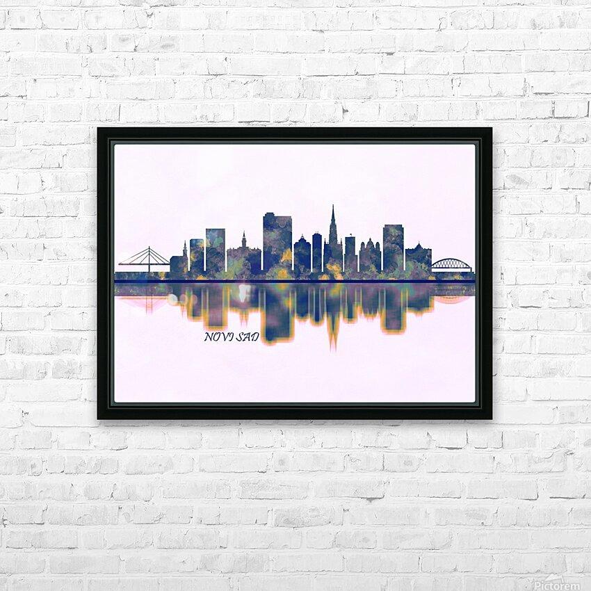Novi Sad Skyline HD Sublimation Metal print with Decorating Float Frame (BOX)