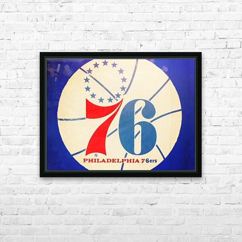 Vintage Philadelphia 76ers Art HD Sublimation Metal print with Decorating Float Frame (BOX)