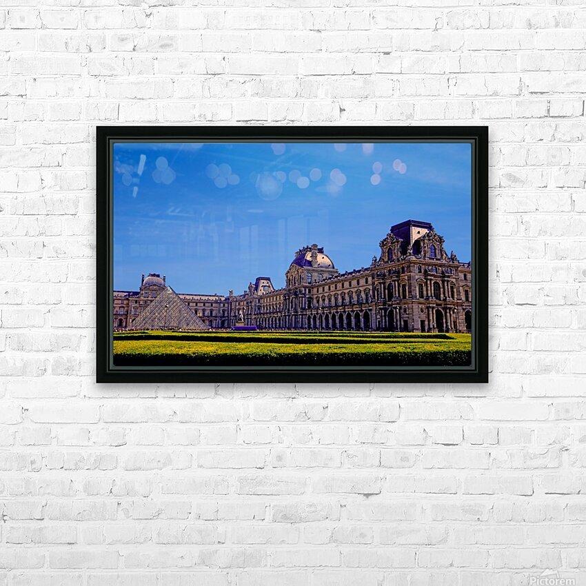 The Louvre Paris 1st Arrondissement Paris HD Sublimation Metal print with Decorating Float Frame (BOX)