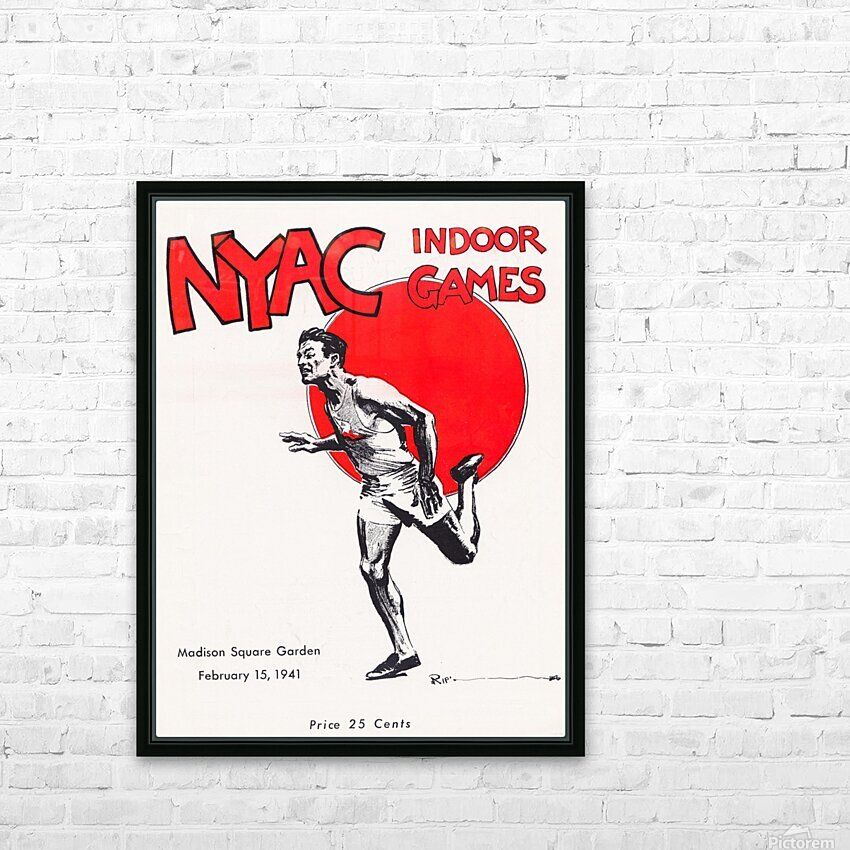1941 New York Indoor Games HD Sublimation Metal print with Decorating Float Frame (BOX)