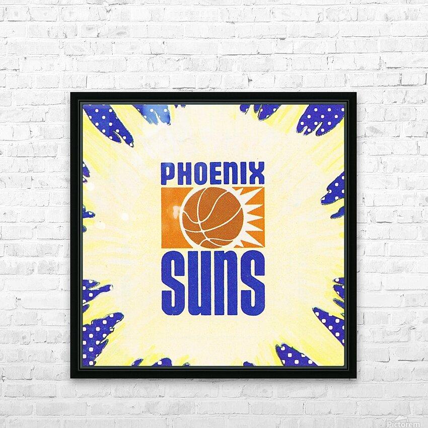 1988 Phoenix Suns Art HD Sublimation Metal print with Decorating Float Frame (BOX)