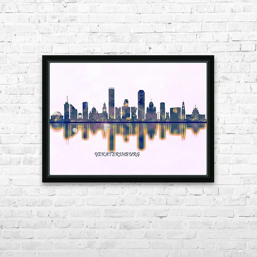 Yekaterinburg Skyline HD Sublimation Metal print with Decorating Float Frame (BOX)
