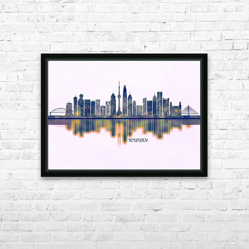 Wuhan Skyline HD Sublimation Metal print with Decorating Float Frame (BOX)