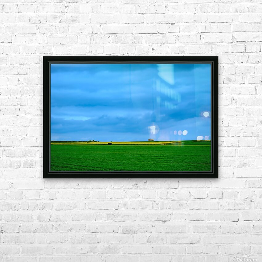 Painted Fields - 2017 Gallery Artwork of the Year - Minimalism HD Sublimation Metal print with Decorating Float Frame (BOX)