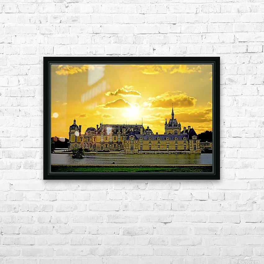 Chateau de Fontainebleau HD Sublimation Metal print with Decorating Float Frame (BOX)