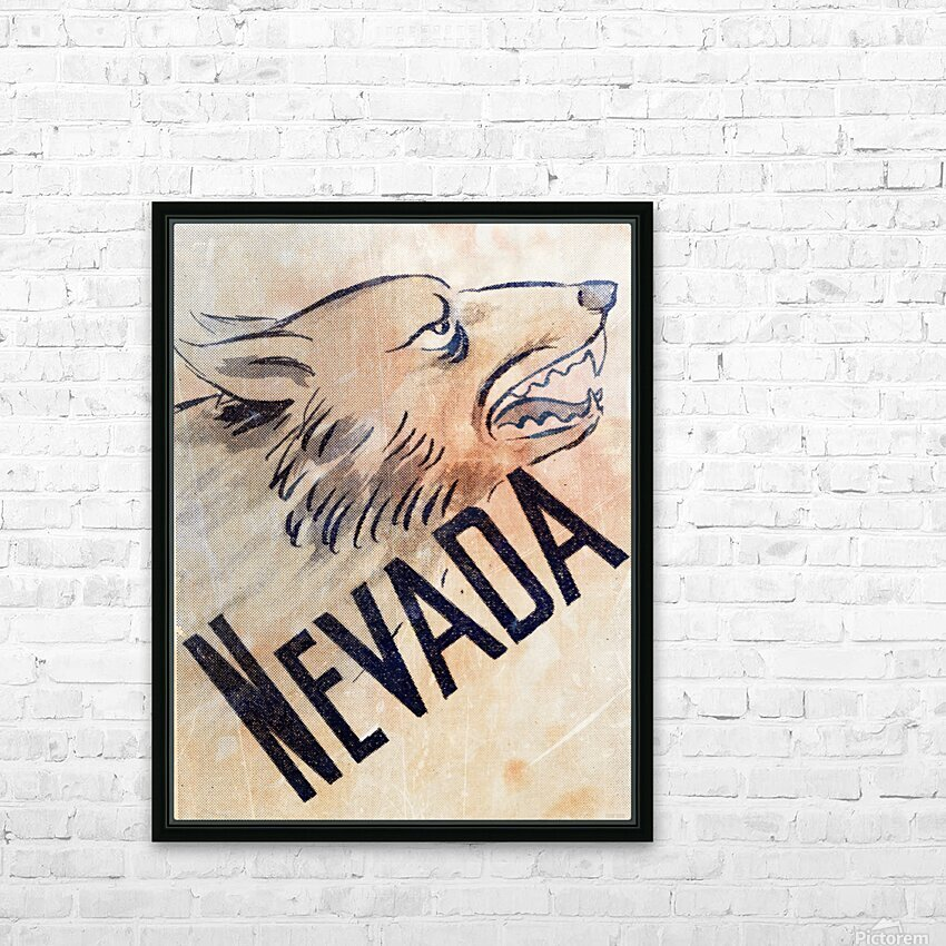 1946 Nevada Wolfpack Art HD Sublimation Metal print with Decorating Float Frame (BOX)