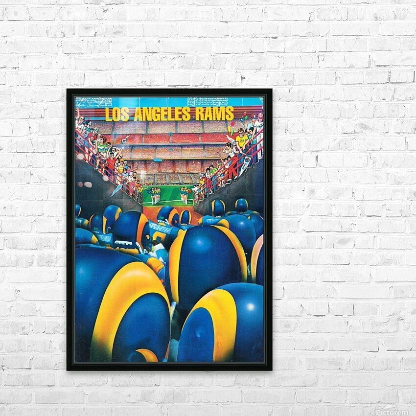 1984 Los Angeles Rams Enter The Field HD Sublimation Metal print with Decorating Float Frame (BOX)