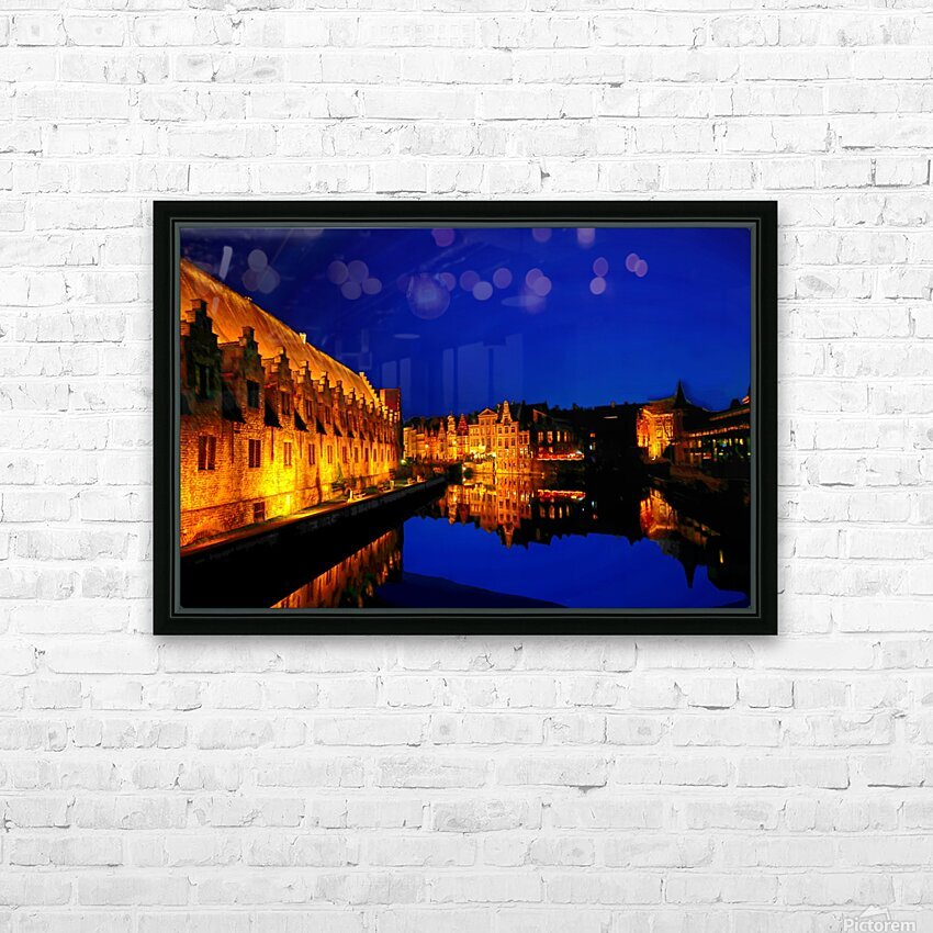 Beautiful Belgium 5 of 7 HD Sublimation Metal print with Decorating Float Frame (BOX)