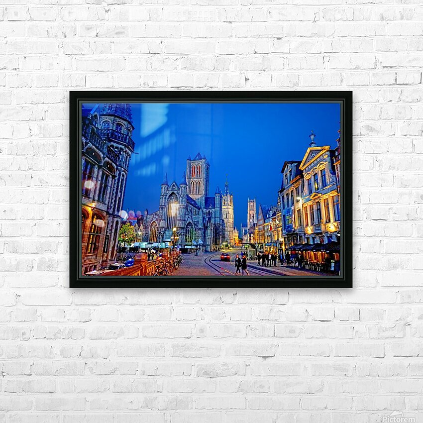 Beautiful Belgium 1 of 7 HD Sublimation Metal print with Decorating Float Frame (BOX)
