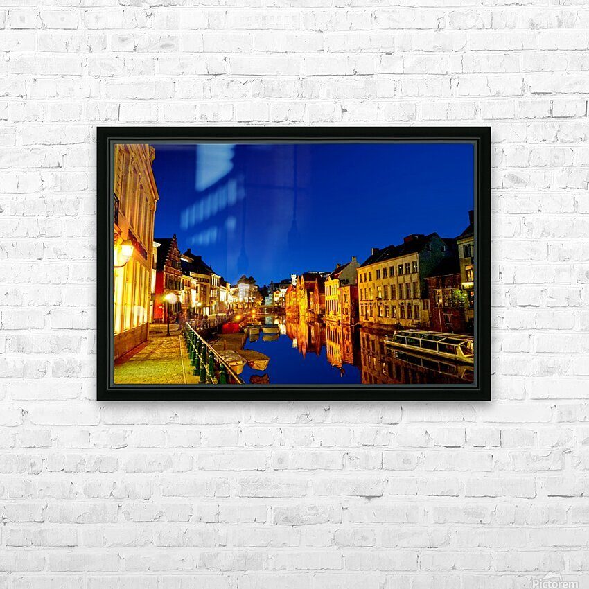 Beautiful Belgium 7 of 7 HD Sublimation Metal print with Decorating Float Frame (BOX)