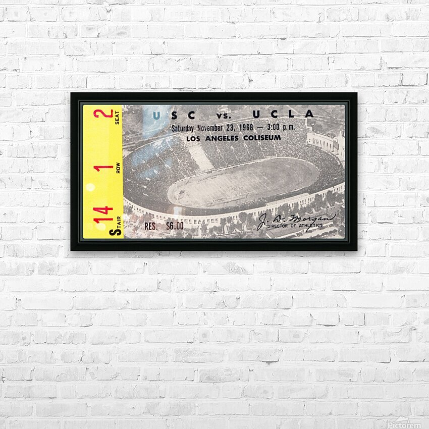 1968 UCLA vs. USC HD Sublimation Metal print with Decorating Float Frame (BOX)