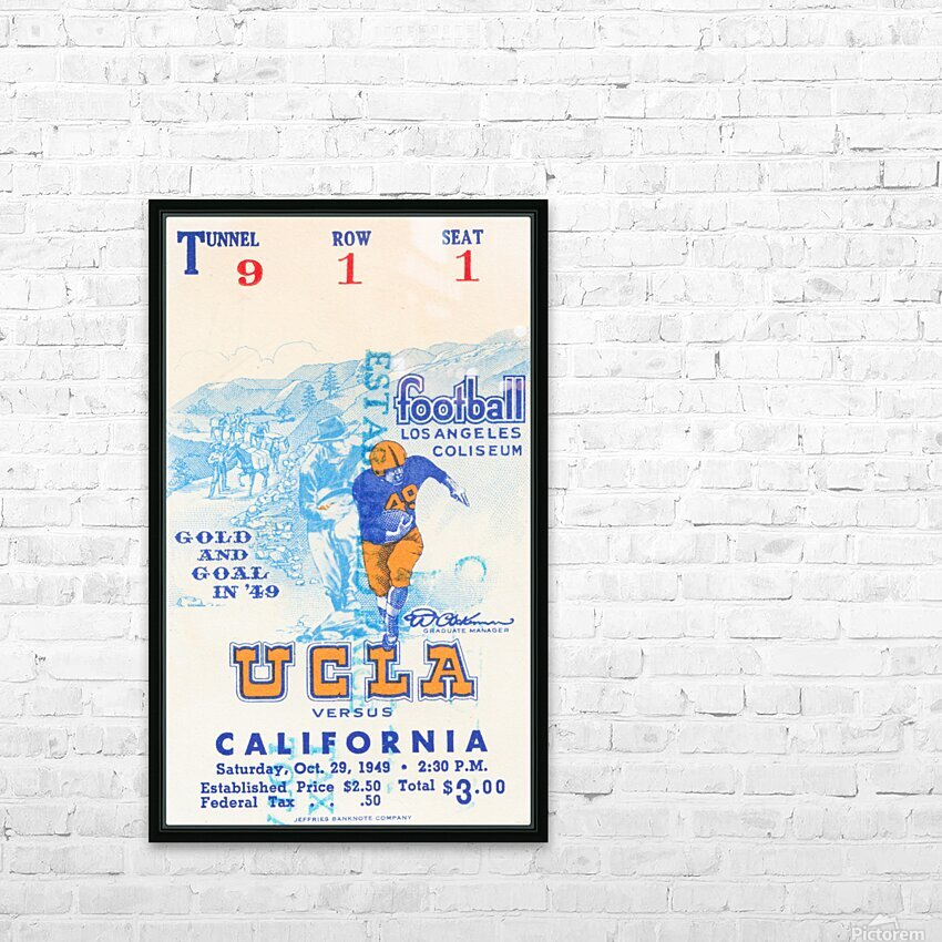 1948 UCLA vs. California HD Sublimation Metal print with Decorating Float Frame (BOX)