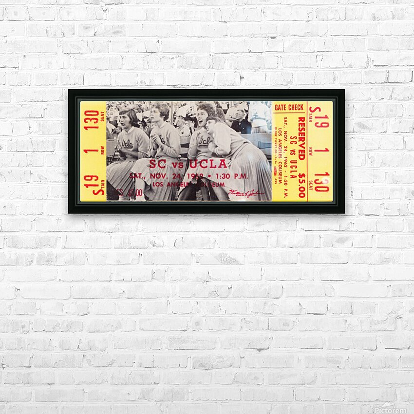 1962 USC vs. UCLA HD Sublimation Metal print with Decorating Float Frame (BOX)