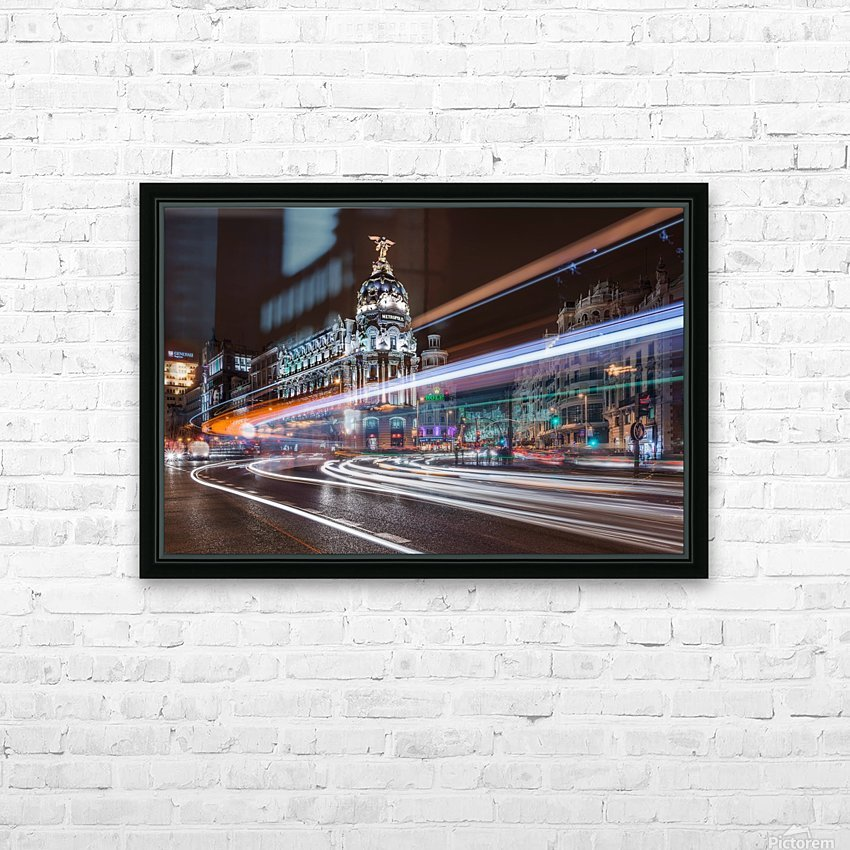 Madrid Traffic HD Sublimation Metal print with Decorating Float Frame (BOX)
