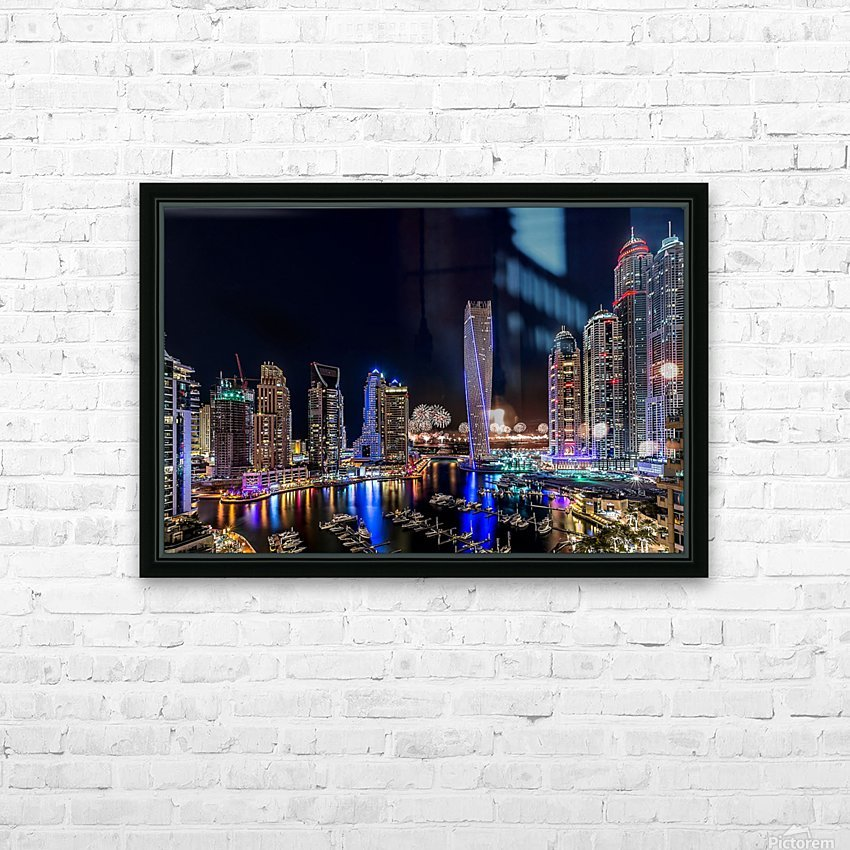 Happy New Year Dubai HD Sublimation Metal print with Decorating Float Frame (BOX)