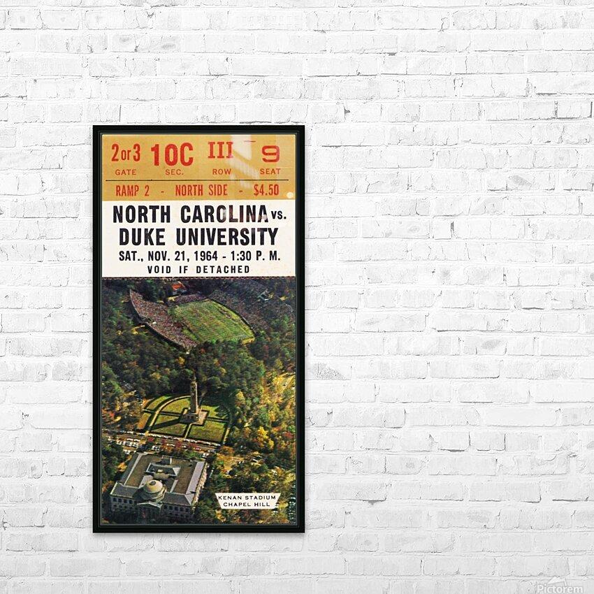 1964 North Carolina vs. Duke HD Sublimation Metal print with Decorating Float Frame (BOX)