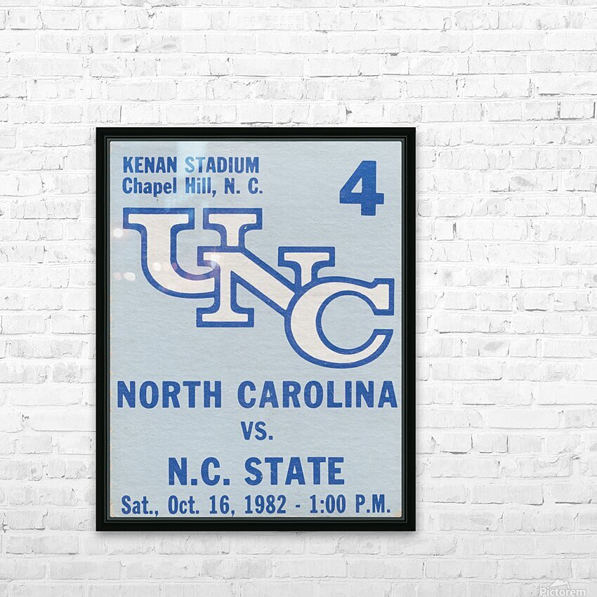 1982 North Carolina vs. NC State HD Sublimation Metal print with Decorating Float Frame (BOX)
