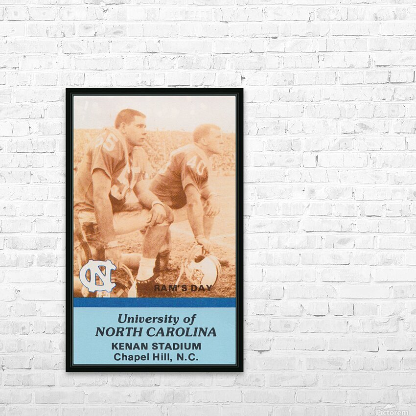1988 North Carolina HD Sublimation Metal print with Decorating Float Frame (BOX)