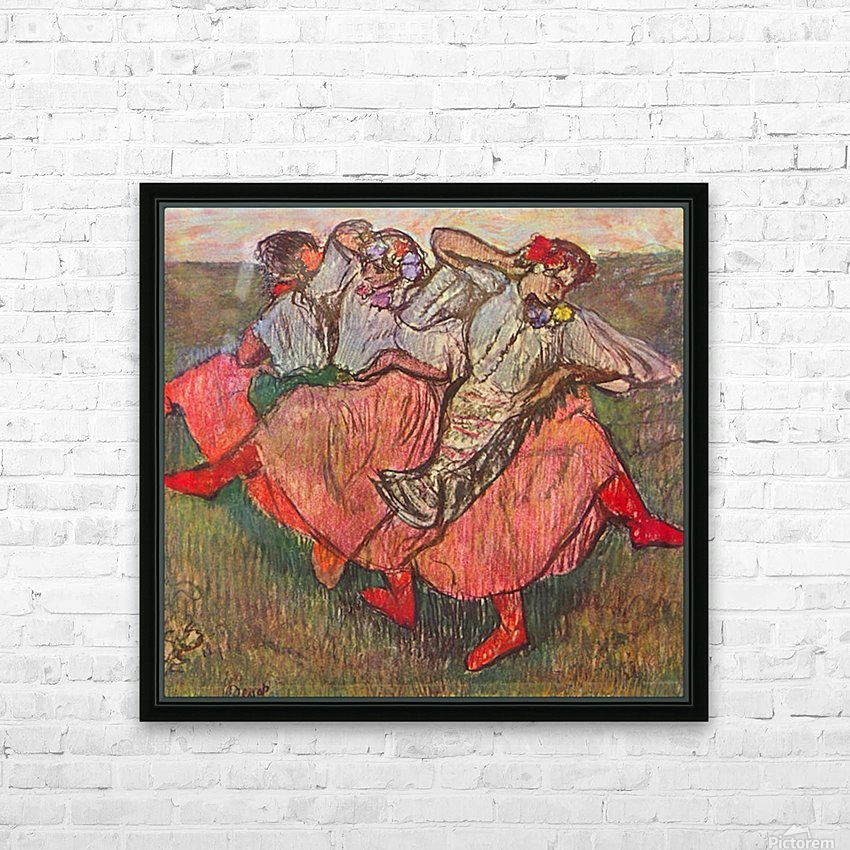 Russian Dancers by Degas HD Sublimation Metal print with Decorating Float Frame (BOX)