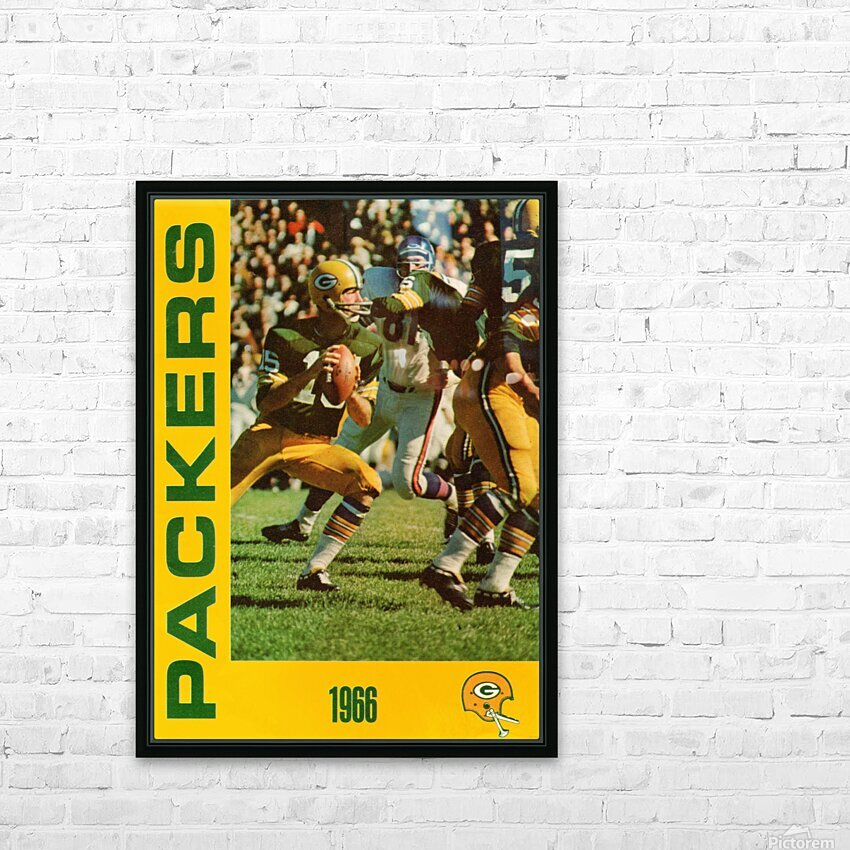 1966 Green Bay Packers Football Art HD Sublimation Metal print with Decorating Float Frame (BOX)