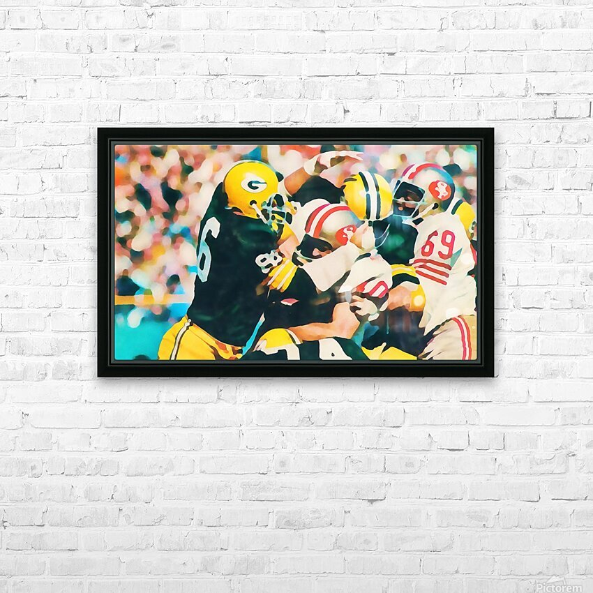Vintage Green Bay Packers Art Digital Painting HD Sublimation Metal print with Decorating Float Frame (BOX)